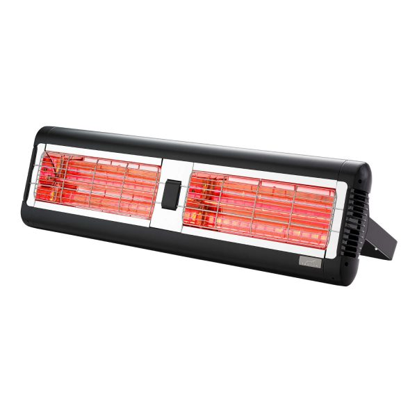 Front Shot of Tansun Sorrento Double 3.0-4.0kW Infrared Heater ON