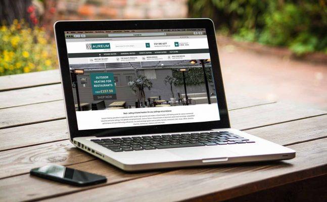 Aureum Heating's new online shop on desktops and mobiles